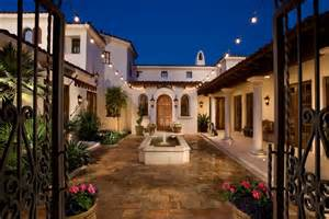 hacienda style homes hacienda style homes courtyard with wrought iron gate in