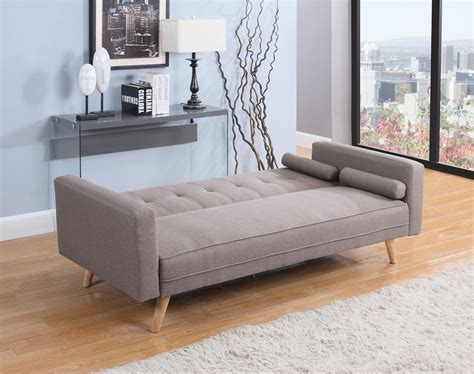 Settee Bed by Birlea Ethan Sofa Bed Settee 3 Seater Click Clack Grey
