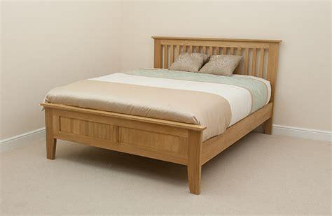 oak bedroom sets king size beds bevel natural solid oak 5ft king size bed bedroom furniture