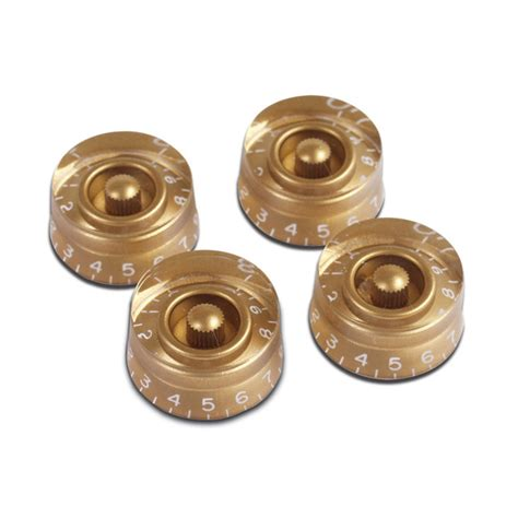 gibson speed knobs for electric guitar 4 pack gold at