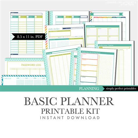 free printable planner set printable planner set basic kit by freshpaperieplanners on