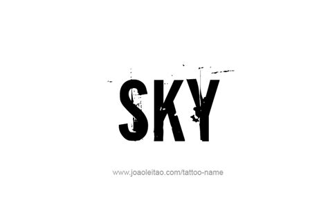 sky name tattoo designs