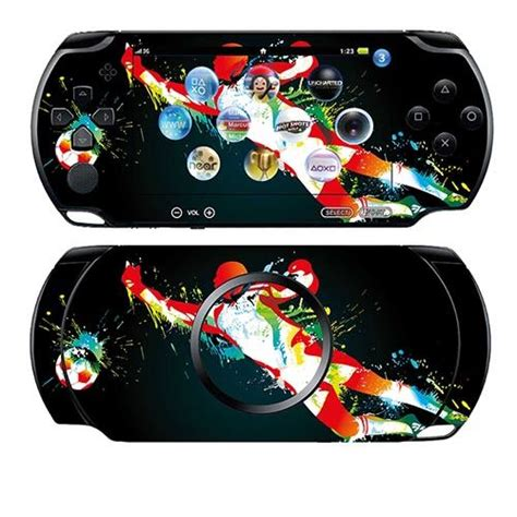 Skin Custom Design For Psp 1 2 3 skin stickers pour sony psp sticker splash soccer goal achat vente sticker skin