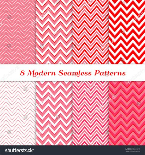 changing pattern of tribal livelihoods 8 seamless chevron patterns red deep stock vector