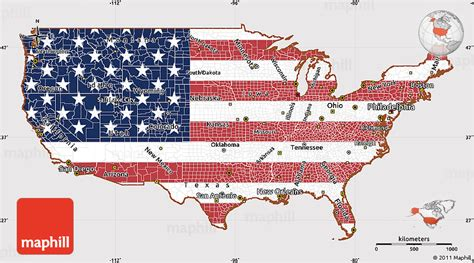 usa map states flags flag simple map of united states