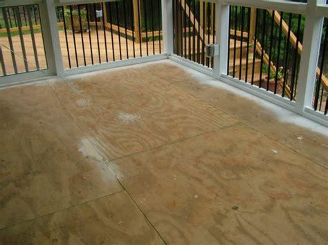 Screen Porch Tile CDX Subflooring   Flooring   DIY