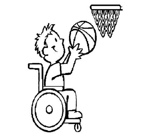 sedia a rotelle inglese disegno di pallacanestro su sedie a rotelle da colorare