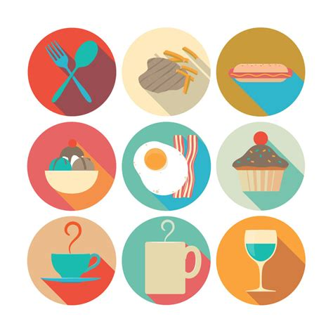 pack   food icons  psd file