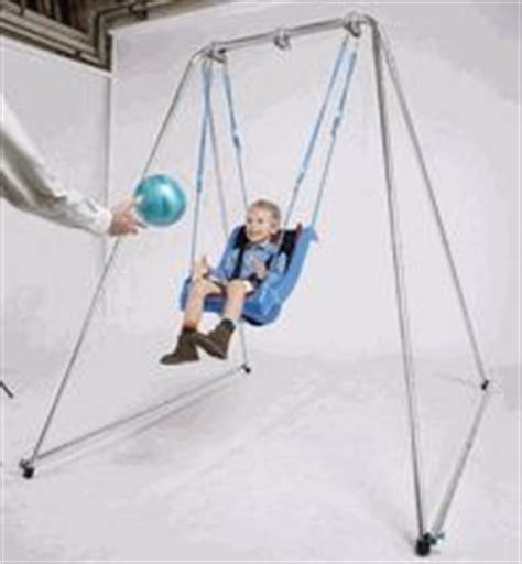 special needs outdoor swing foldable swing frame therapy sensory room pinterest