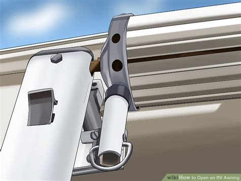 two step awning how to open an rv awning 7 steps with pictures wikihow