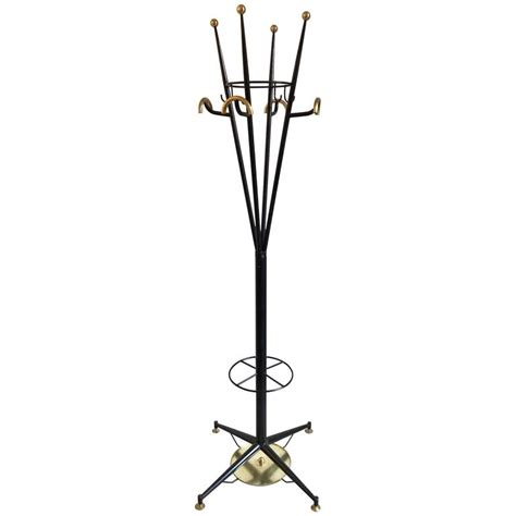 Modern Coat Rack Stand by Italian Modern Black Lacquered And Brass Coat Rack Or