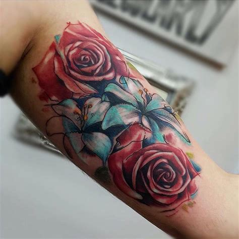 watercolor flowers tattoo venice tattoo art designs