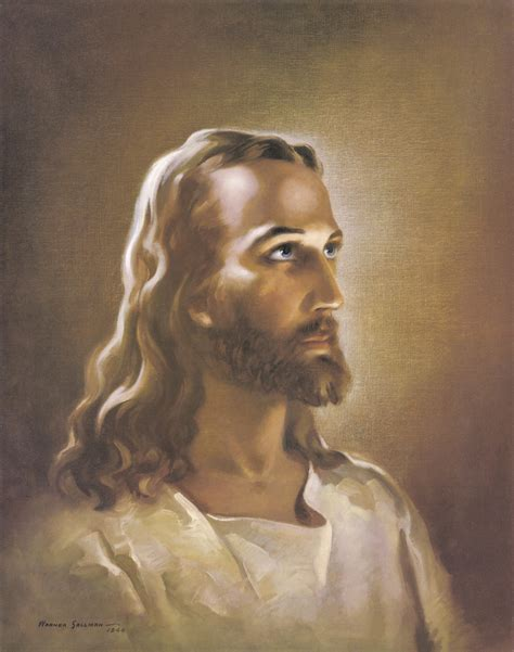 jesus painting warner sallman lights 4 god