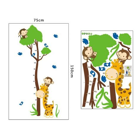 Wallsticker Pengukur Tinggi Badan Anak Jerapah Ay831 barangunik co detil produk wall sticker pohon meteran pengukur tinggi badan anak