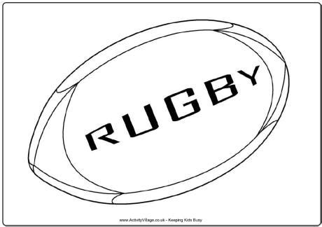 printable rugby images rugby ball colouring page