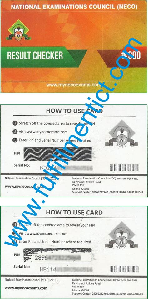 Go Section by Academics Section Scanned Copy Of Neco Scratch Card