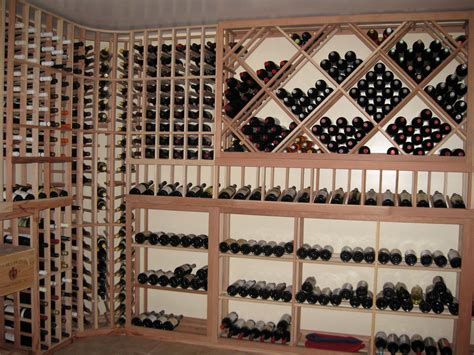 Custom Kitchen Pantry Designs Garage To Wine Cellar Conversion Building Wine Cellars