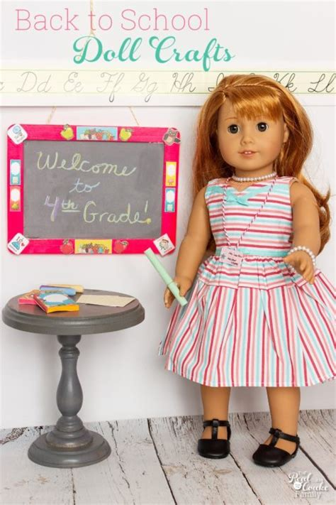 American Doll Paper Crafts - diy back to school american doll crafts
