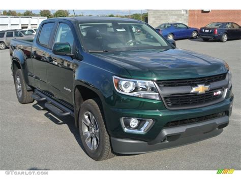 chevrolet 4wd 2015 rainforest green metallic chevrolet colorado z71 crew