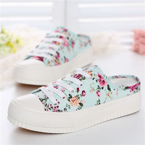 cutest sneakers new fashion sports sneakers canvas shoes floral