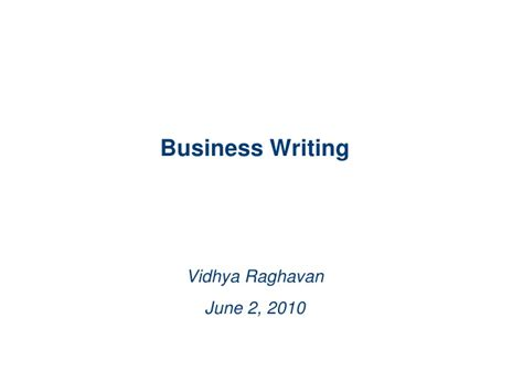 business letters slideshare business writing