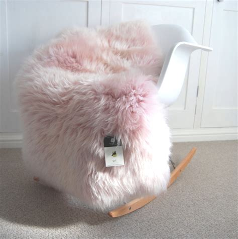 dusky pink sheepskin rug pale pink and fluffy absolutely