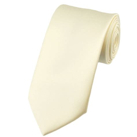 plain ivory satin tie from ties planet uk