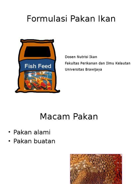 Pakan Ikan Louhan Okiko Original formulasi pakan ikan ppt