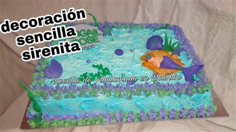 como decorar un pastel de la sirenita ariel decoraci 243 n de pastel para baby shower de sirenita youtube
