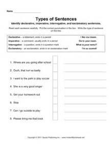 sentence types instant worksheets