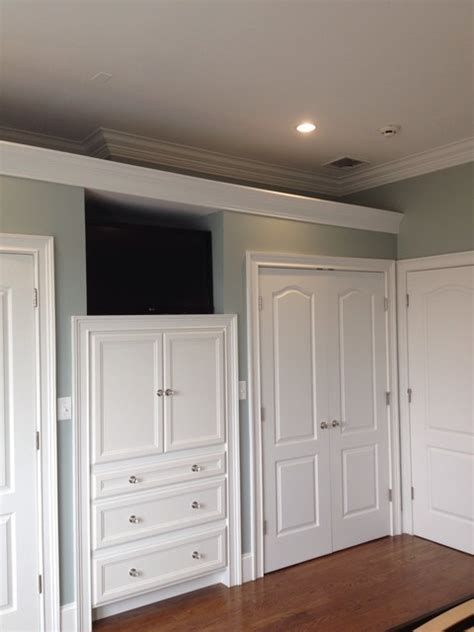 Built in cabinets in master bedroom traditional closet boston