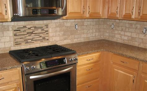 Kitchen Backsplash Travertine Travertine Tile Backsplash Woodstown Nj Yelp