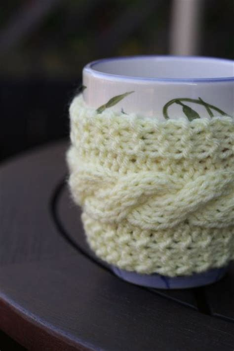 knitted mug cosy free pattern free knit pattern mug cozy this that and everything in