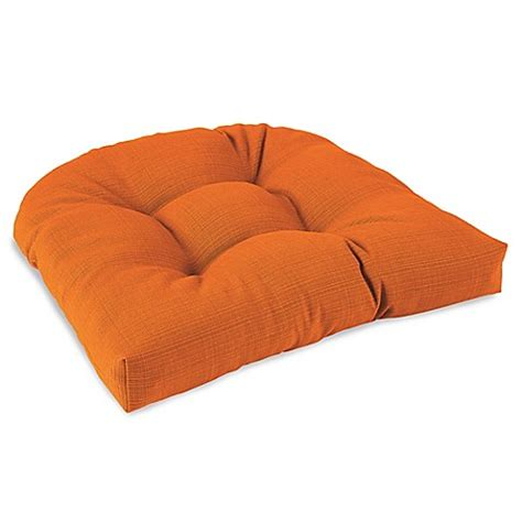 bed bath and beyond cushions solid outdoor tufted cushion in orange bed bath beyond