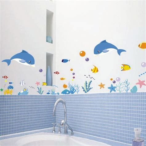 fish wall decor for bathroom wall stickers decal decor bath room vinyl removable diy