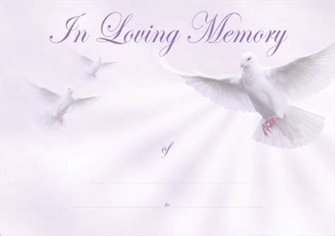 in loving memory templates designer certificates loving memory certificates for