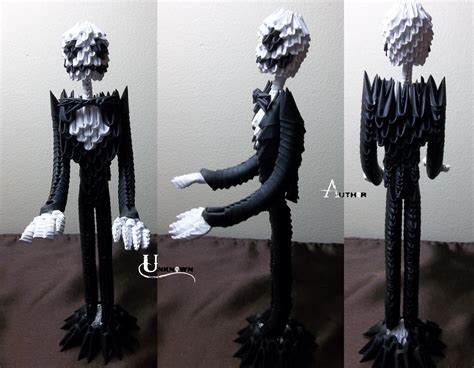3d Origami Sculptures - 3d origami skellington by jobe3do on deviantart