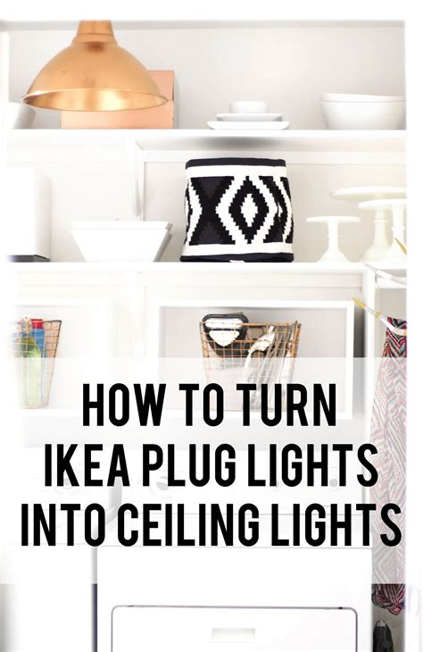 turn ceiling light into how to turn those ikea lights into wired ceiling