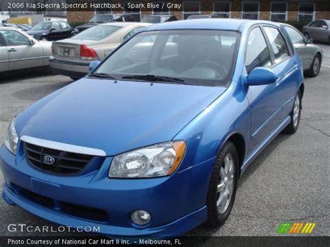 2006 Kia Spectra Hatchback Spark Blue 2006 Kia Spectra Spectra5 Hatchback Gray