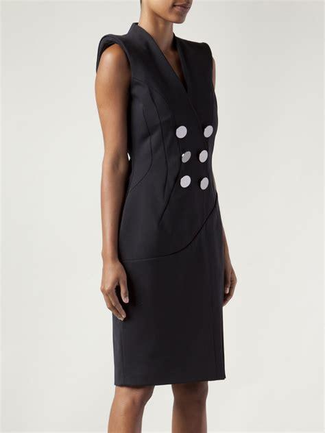 Look Wear Buttons by Altuzarra Breasted Button Dress In Black Lyst