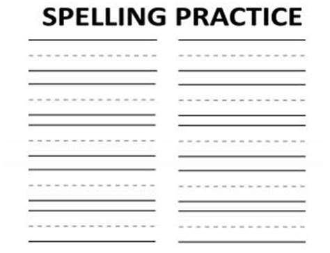 free printable lined paper for spelling words 74 best images about education alphabet spelling on pinterest