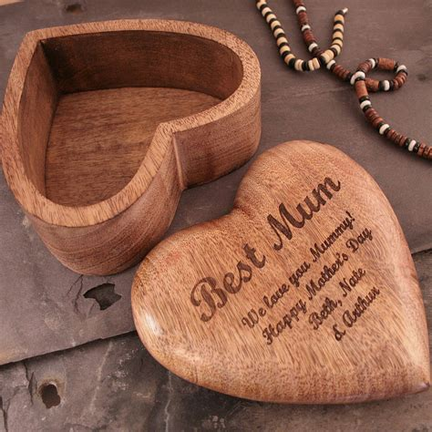 shaped st on jewelry personalised s day gift jewellery box by