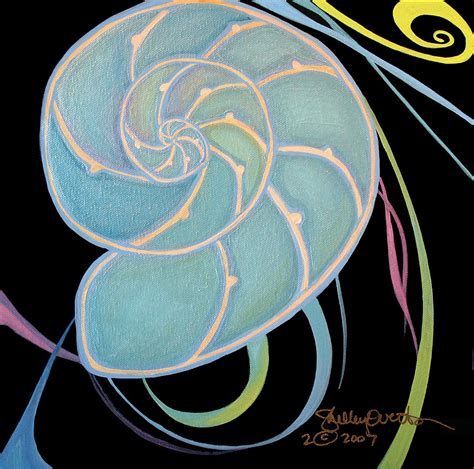 nautilus cross section nautilus cross section painting by shelley overton
