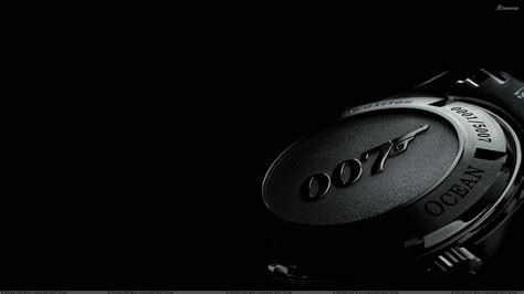 007 Wrist Watch N Black Background Wallpaper