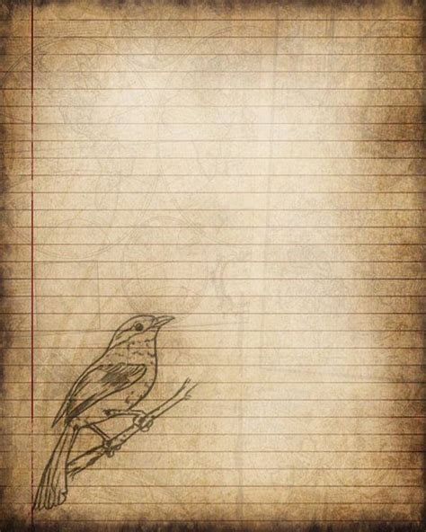 printable bird journal printable journal page bird digital instant by