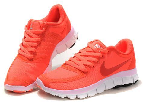 orange nike shoes womens orange white nike free 5 0 v4 s running shoes 76