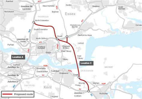 lower thames river map new tunnel under river announced as lower thames crossing