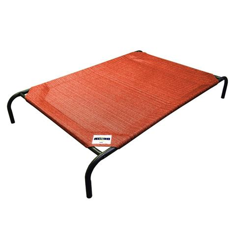 home depot beds coolaroo medium size steel pet bed terracotta 434403 the