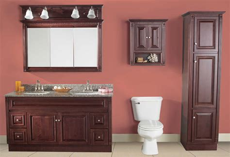 cherry bathroom cabinets heritage cherry vanities rta cabinet store