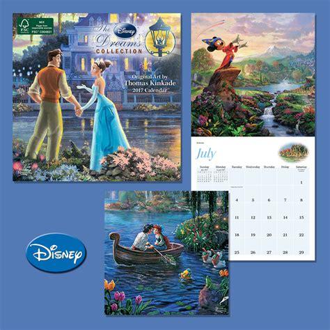 Disney Vault Release Calendar Disney Dreams 2017 Mini Wall Calendar The Kinkade